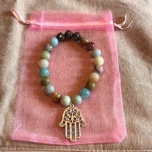 Jewelry - Handmade natural stone & crystal stretch bracelets